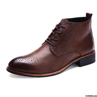 Brogue British men's shoes hight-top boots (Deep Brown) Price Philippines
