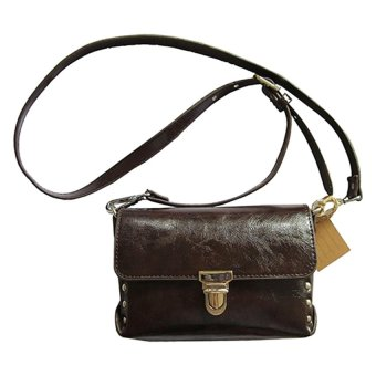 Brown Sling And Clutch Bag In One