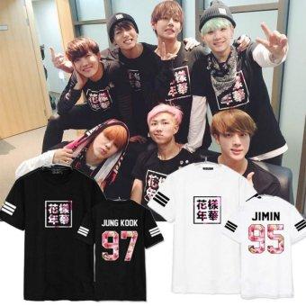 BTS bullet proof youth team Sakura T-shirt black(JIMIN) - intl - 2