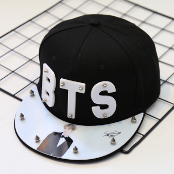 BTS cool riveted signature cap hip hop hat celebrity inspired hat (Min Yun its (Suga))