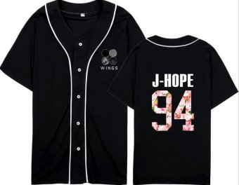 BTS wings album with plates youth concert support baseball shirts for men and women clothes T-shirt - intl