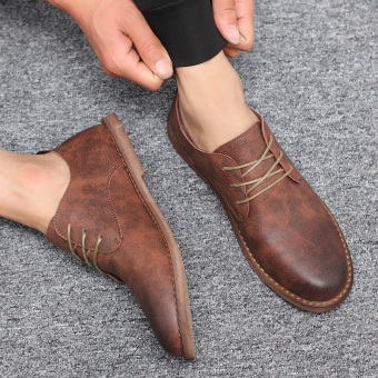 Bullock British style flat shoes Shoes (Brown)