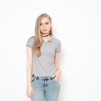 Bum Ladies Basic Polo Shirt (Acid Gray) Price Philippines