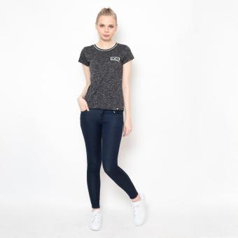 Bum Ladies Basic Round Neck Tee With Flat Knit (Black)