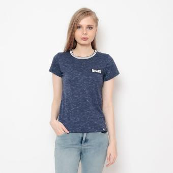 Bum Ladies Basic Round Neck Tee With Flat Knit (Navy Blue) Price Philippines