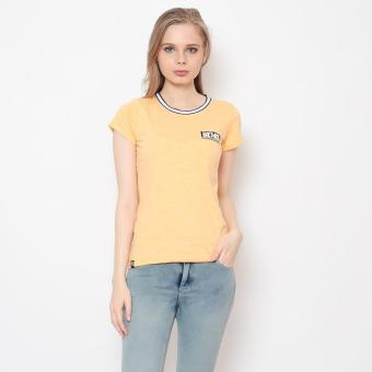 Bum Ladies Basic Round Neck Tee With Flat Knit (Yellow) Price Philippines