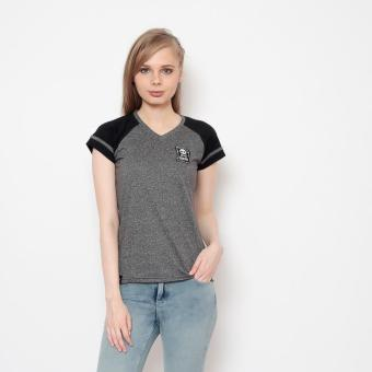 Bum Ladies Black And White Tees (Acid Gray Black) Price Philippines