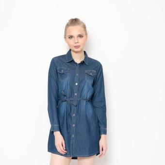 Bum Ladies Chambray Dress (Blue) Price Philippines
