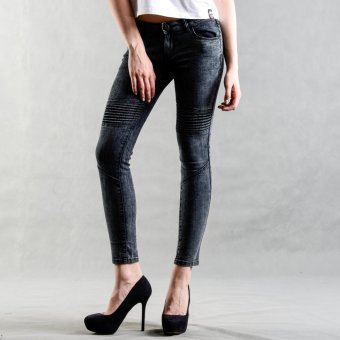BUM Ladies' Cloud Wash Biker Jeans (Black) Price Philippines