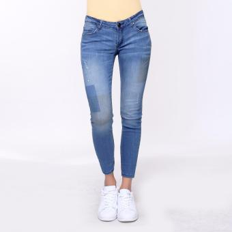Bum Ladies Denim Wash Pants (Blue)