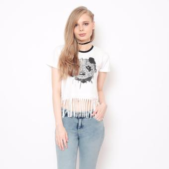 Bum Ladies Fringes Tee (White Black) Price Philippines
