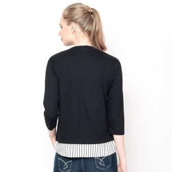 Bum Ladies Knits With Woven Combi (Black) - 4
