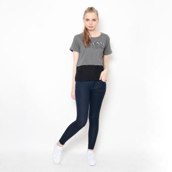 Bum Ladies Knits With Woven Combi (Gray Black) Price Philippines