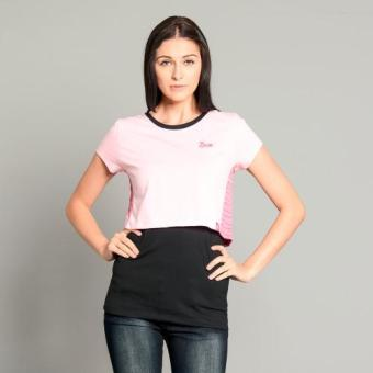 BUM Ladies Layered Tee (Pink Dark Gray)
