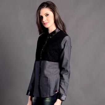 Bum Ladies Modified Woven Long Sleeves (Gray Black) Price Philippines