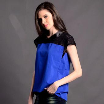 Bum Ladies Modified Woven Short Sleeves (Blue Black)
