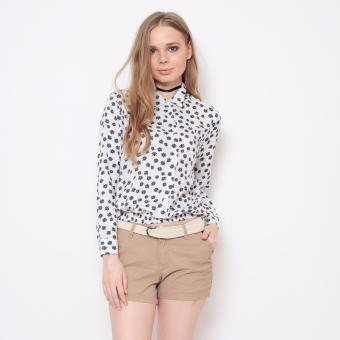 Bum Ladies Printed Rayon Long Sleeves (White Blue) Price Philippines