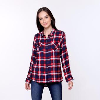 Bum Ladies Rayon Blouse (Red)