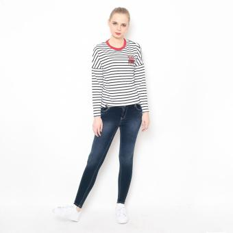 Bum Ladies Striper Long Tee (White/Black/Red) Price Philippines