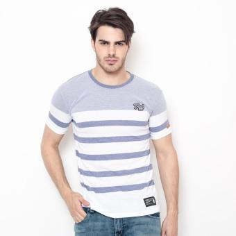Bum Men's Athleisure Tees (A. Navy Blue White)