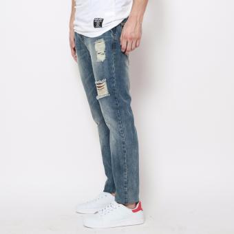 Bum Men's Ripped Denim Pants (Blue) - 2