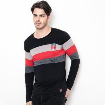 Bum Men's Special Longsleeves Tees (Black Red)