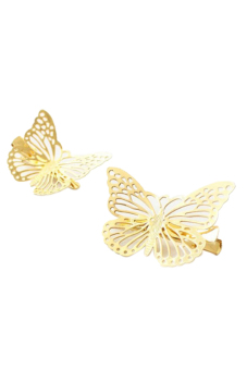 Butterfly Hollow-out Left Hair Clip Hair Claw Bridal Barrettes