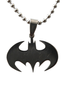 Buytra Bat Stainless Steel Silvery Necklace Black