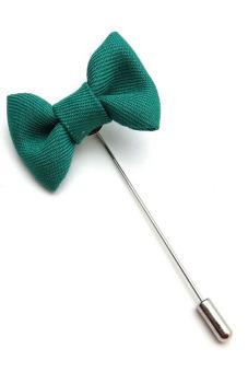 Buytra Lapel Pins Bowknot Handmade Men's Accessories Green