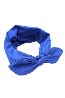 Buytra Wide Ribbon Headband (Blue)