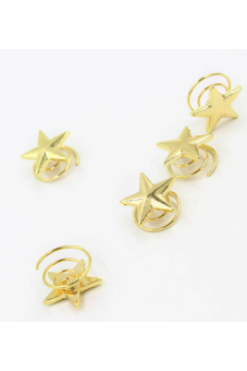 Buytra Women Hair Pins Lovely Star Set of 5 (Gold) - picture 2