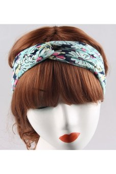 Buytra Women Headband Floral Wide Stretch No.5