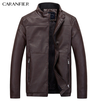 BYL caranfier leather jackets biker men jacket Motorcycle (Brown)
