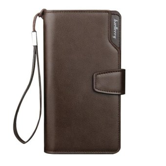 BYT Baellery Korean Style Long Men Wallet Leather Hand Bag CreditCard & Coin Holders with Hand Strap - intl