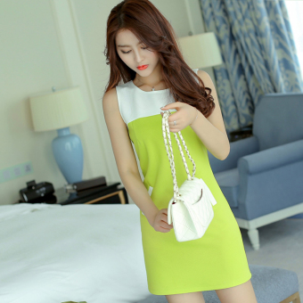 Caidaifei fashion spring and summer New style Slim fit knit dress (Scholar green) (Scholar green)