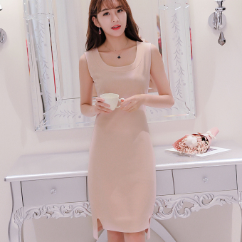 Caidaifei Korean-style solid spring and summer New style base dress (Lotus Root Starch) (Lotus Root Starch)