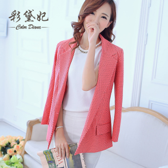 Caidaifei spring and summer New style point female coat (Red) (Red)
