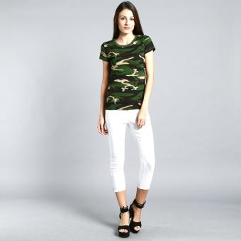 Camouflage Tee for Women (Green) - 5