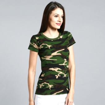 Camouflage Tee for Women (Green) - 2