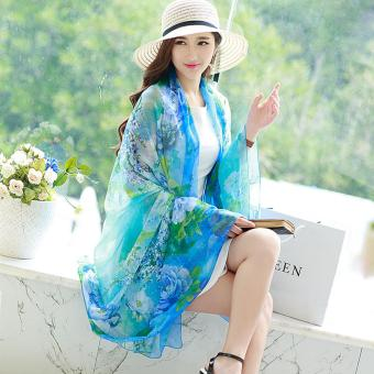 Candy Online Large Section Chiffon Summer Shawl Scarf Thin SectionSunscreen Scarf Air Conditioning Shawl Scarf #7
