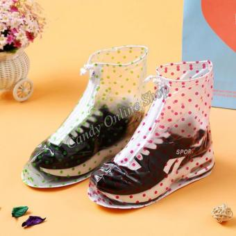 Candy Online Waterproof Non-slip rain shoe covers (Pink) - 2