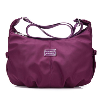 Canvas travel cross bag sling bag Crossbody Bag (Grape purple) (Grape purple)