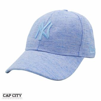 Cap City Baseball Cap Pastel Denim NY New York Strapback (Dark Blue)