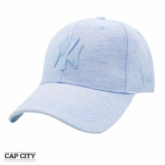 Cap City Baseball Cap Pastel Denim NY New York Strapback (Light Blue)