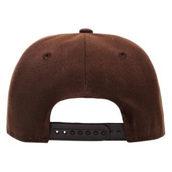 Cap City Flat Brim Unisex Plain Blank Snapback Pure Cap (Brown) - 3