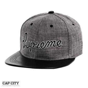 Cap City Hip Hop SUPREME Embroidery Snapback Cap (Black)