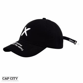 Cap City Korean Longstrap with X Xotic Design Baseball Cap (Black)