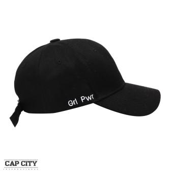Cap City Korean Style with Grl Pwr Letter embroidery Design Baseball Cap (Black)