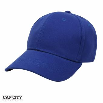 Cap City Plain Adjustable Street Casual Baseball Cap (Royal Blue)