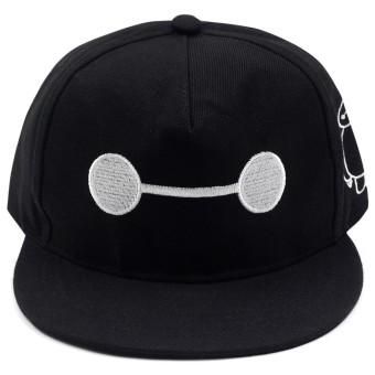 Cap City Unisex CapNime Fashion Cosplay Snapback BayMax Baseball Cap (Black) - 3